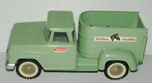 Vintage TONKA 1960s Pressed Steel Horse Van Tonka Farms TRUCK VERY CLEAN
