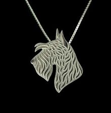 Scottish Terrier Dog Pendant Necklace -Fashion Jewellery - Silver Plated