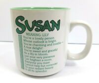 Vintage Papel Susan Personalized Coffee Cup / Mug Name Meaning Poem