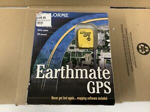 New Unopened DeLorme Earthmate GPS Receiver, USB Cable & Street Altas USA CD-ROM