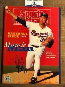 Nolan Ryan No Label Signed Autographed Sports Illustrated Magazine Beckett BAS