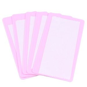 Nail Art Stamping Manicure 6cm x 12cm Image Plate Recessed Backing Holder Pink