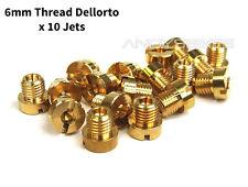 Set of 10 x 6mm M6 Thread Dellorto Main Jet Kit - 64 66 68 70 72 74 76 78 80 82