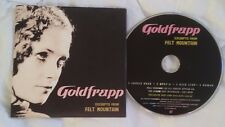 Goldfrapp Felt Mountain Excerpts promo CD