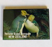 Yellow Eyed Penguin New Zealand Australian Souvenir Magnet Vintage (L37)