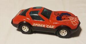 VINTAGE SPIDER MAN BUDDY L SPIDER CAR AVENGER CORVETTE 1980 MARVEL VEHICLE Japan