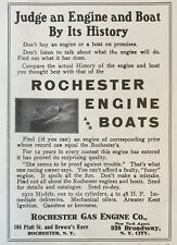 1911 Ad(L7)~Rochester Gas Engine Co. Ny. Rochester Marine Engines And Boats