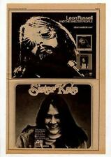 Leon Russell Kate James Taylor LP Advert 1971