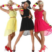 Festliche ärmellose knielange Damenkleider mit Rundhals-Ausschnitt