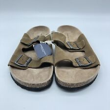 New American Eagle Leather Sandals Faux Birkenstock Men's -Size 8 NWT Tan