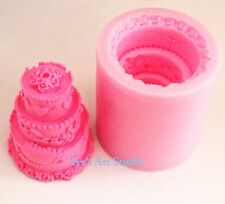 Flexble Silicone Soap/Candle Mold/Mould Three Layer Wedding Cake