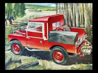 LAND ROVER 1954-1956 SERIES-I '86' RETRO POSTER PRINT CLASSIC ADVERT A3 !!!