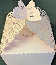 WEDDING FAVOUR BOXES PINK 50PIECES LASER CUT