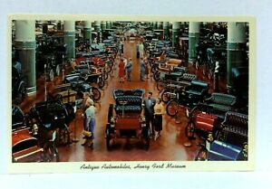 Dearborn Michigan Henry Ford Museum Antique Automobiles Postcard