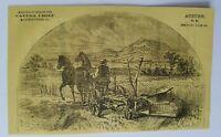 1867 New York Auburn Cayuga Chief Mower Reapers Farm Tractors Advertisement Ad