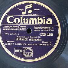 78rpm ALBERT SANDLER ORCH serenade , heykens / song of songs , moya