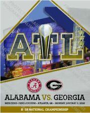 2018 College National Championship Program Georgia Bulldogs Vs. Alabama Crimson
