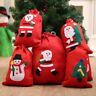 Snowman Santa Claus Christmas Bag Fabric Shopping Storage Gifts Bag Xmas Decor