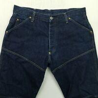 G-Star Raw ELWOOD Mens HEAVY DENIM Jeans W36 L34 Blue Regular Straight