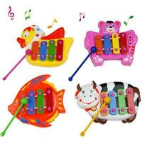 Fashion Kids Baby Musical Educational Animal Developmental Music Bell Toy 4 Tone
