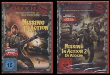 DVD MISSING IN ACTION 1 + 2 - ACTION CULT - UNCUT - CHUCK NORRIS 2 DISC SET NEU