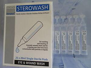 Sterowash Sterile Eye & Wound Wash 20ml Pod Quantity 5 Pods