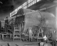 Photograph of a Detroit Michigan Steamship Engine Shop  Year 1912  8x10