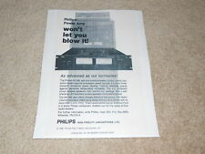 Philips AH 380 Amplifier Ad, 1 pg, Article, Specs, 1980