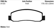 EBC Yellowstuff Brake Pad Set Front for 08-10 F250 / 10-12 F350 / 11-12 F450