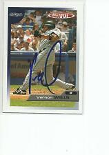 VERNON WELLS Autographed Signed 2005 Topps Total card Toronto Blue Jays COA