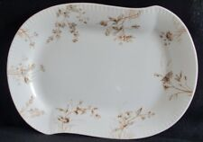 Johnson Bros Floral Patterned Platter with Ridged Edges