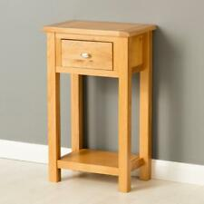 Poldark Oak Hall Table / Light Oak Small Hall Table / Telephone Stand / New