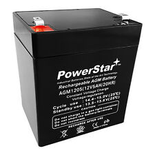 PowerStar 12V 5Ah UPS Battery Replaces 5.5Ah BB HR5.5-12-T2, HR5.5-12T2