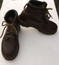 Dr Martens air cushioned sole mens brown leather lace up  boots made in england