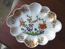 c1800 Derby Porcelain Lozenge Shaped Dessert Dish. 31cm x 25cm diameter