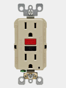 New!! LEVITON Ivory Thermoplastic GFCI OUTLET 15 Amp 125 Volt 1 pack GFNT1-0RI