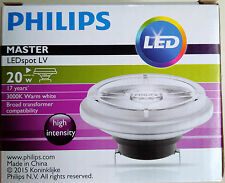 2 X NEW Philips Master LEDspot AR111 LV 20W Warm White 3000K 24D Dimmable BNIB