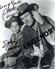 "CHUCK CONNORS & JOHNNY CRAWFORD AUTOGRAPHED, THE RIFLEMAN  8""x10"" Reprint X-01"