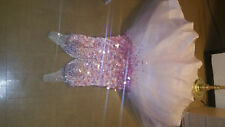 Plus Size Long Pink & White Formal Mermaid Style Prom Dress w/ Gemstones Size 18