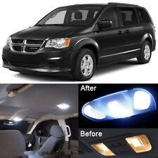 White LED Interior kit + License Light LED For Dodge Grand Caravan 2008-2015