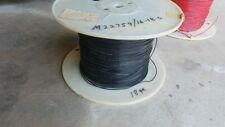 18 Gauge AWG Black Aircraft Wire Mil M22759 100 Ft