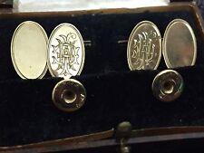 Vintage Gold Art Deco Cufflink And Stud Set In original Box