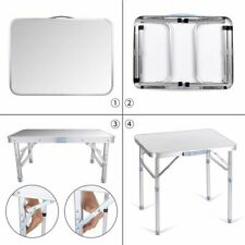 Aluminium Folding Portable Camping Picnic Kitchen Small Dining Table Bed Tray UK