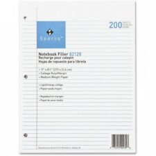 Sparco Notebook Filler Paper, 200 sheets,  8-1/2 x 11