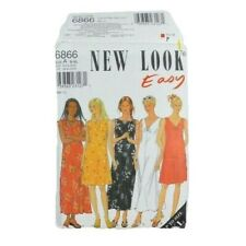 New Look 6866 Misses Dresses Sewing Pattern Size S-XL Uncut Summer 5 Styles