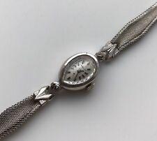 A Vintage Retro 14K White Gold Hamilton Watch