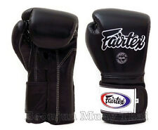 Fairtex Muay Thai Boxing Glove BGV9 Mexican Style training boxing gloves Black