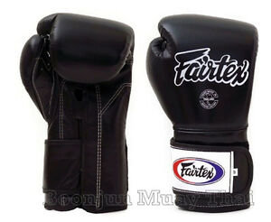 Fairtex Muay Thai Boxing Glove BGV9 Mexican Style training boxing gloves Black