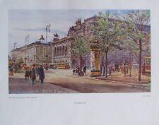 Staatsoper Wien von Erwin Pendl - Farbdruck aus 1948 Kunstdruck