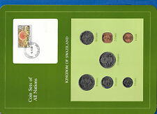 Coin Sets of All Nations Swaziland 1979-1982 w/card 20 cents, 1 Lilangeni 1979